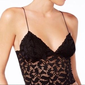 NEW Free People Lace Longline Bralette Large